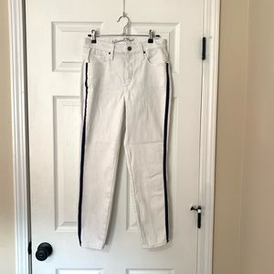 Universal thread white jeans with blue stripe